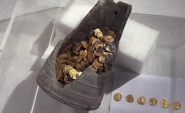 Skarb rzymskiej arystokracji. Amfora pełna złotych monet