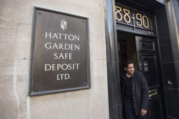 Skarbiec z depozytami przy ulicy Hatton Garden fot. Niklas Halle'n /AFP