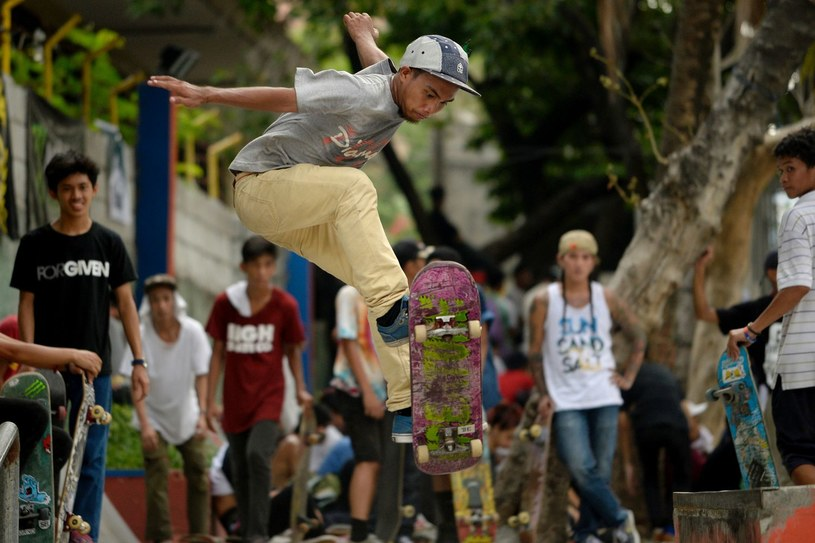 Skateboarding zadebiutuje na igrzyskach w Tokio. /AFP
