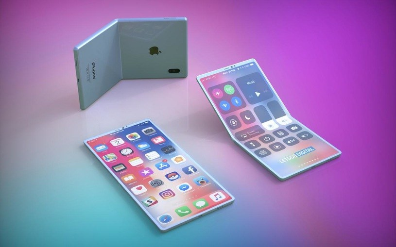 Składany smartfon Apple - patent / fot. Let'sGo Digital /materiał zewnętrzny