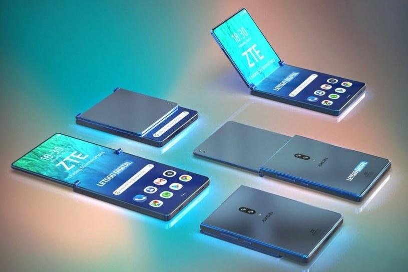 Składany smartfon ZTE / fot. Let'sGoDigital /materiał zewnętrzny