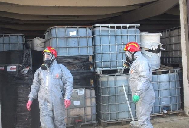 Składowisko toksycznych odpadów w Borkowicach /Policja