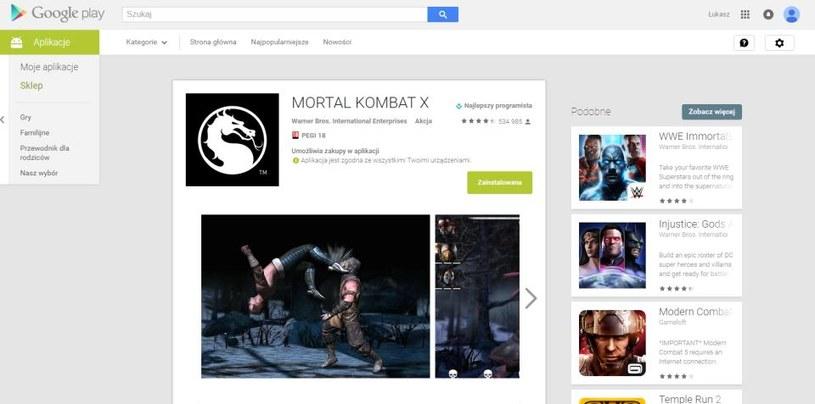 Sklep Google Play po dobnych modyfikacjach /materiały prasowe