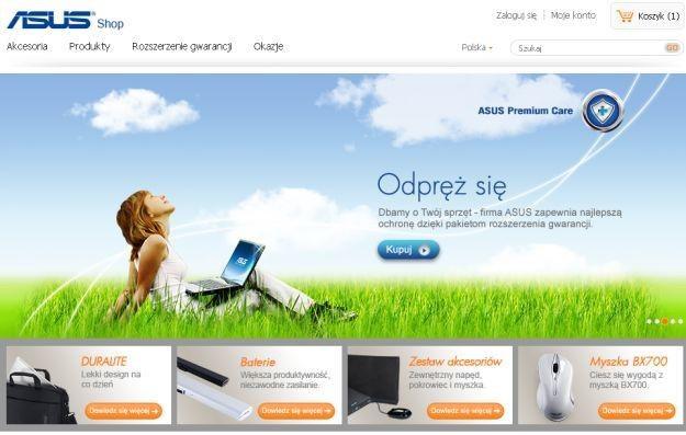 Sklep internetowy ASUS Shop - strona główna /materiały prasowe
