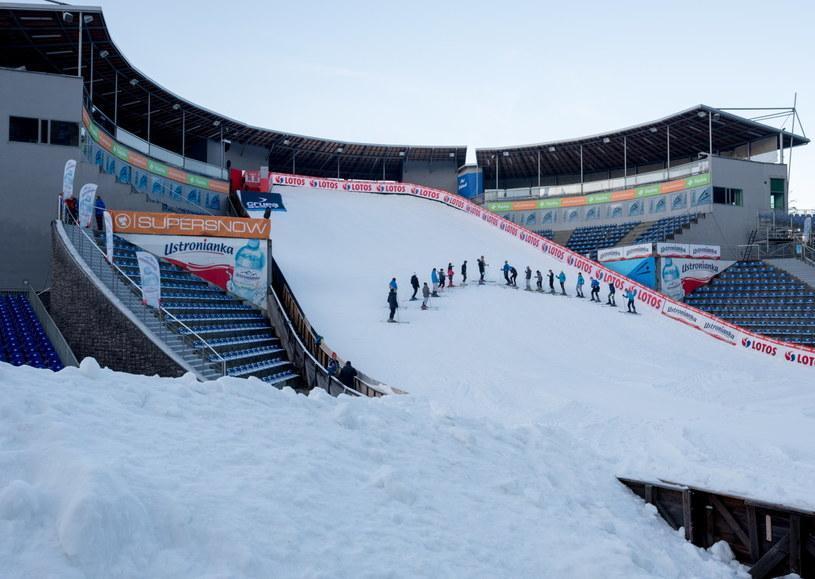 Skocznia narciarska w Wiśle-Malince /Andrzej Grygiel /PAP