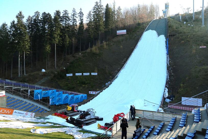 Skocznia narciarska w Wiśle-Malince / PAP/Andrzej Grygiel /PAP