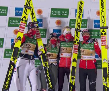 Skoki narciarskie. MŚ w Oberstdorfie.  Austriaczki wygrały konkurs drużynowy kobiet. Wideo