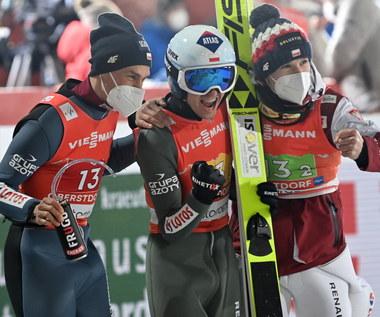 Skoki narciarskie - MŚ w Oberstdorfie. Polacy na trzecim miejscu w konkursie drużynowym. Wygrali Niemcy