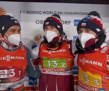 Skoki narciarskie. MŚ w Oberstdorfie. Trzecie miejsce Polaków. Wideo
