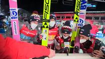 Skoki narciarskie. Polscy skoczkowie w euforii po zdobyciu brązowego medalu na mistrzostwach świata (POLSAT SPORT). Wideo