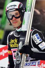 Skoki narciarskie. Primoż Peterka przyglądał się treningom młodych zawodników