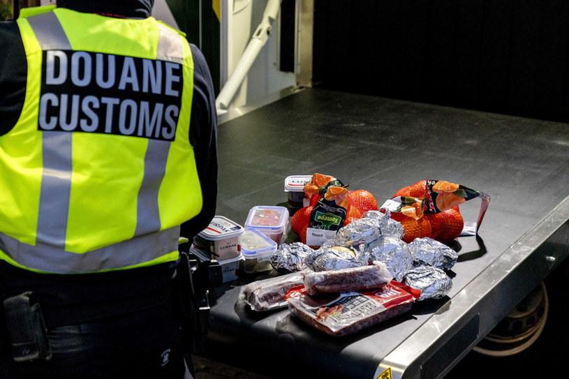 Skonfiskowane jedzenie na granicy Unii Europejskiej i Wielkiej Brytanii /SANDER KONING    /PAP/EPA