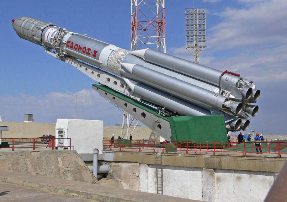Skonstruowany w latach 60. Proton jest największą seryjnie produkowaną rosyjską rakietą nośną /Oleg Urusov /PAP/EPA