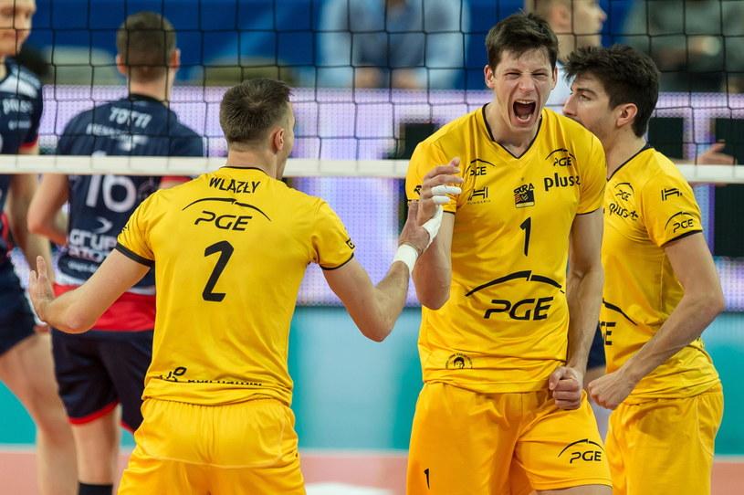 Skra po raz pierwszy wygrała w tej edycji Ligi Mistrzów /Fot. Maciej Kulczyński /PAP