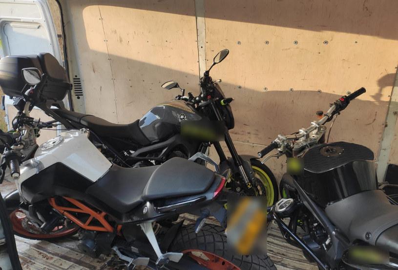 Skradzione motocykle. Źródło: KRP IV 0 BEMOWO, WOLA /