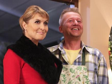"""Skrzynecka i Linda na planie """"I kto tu rządzi"""" /Polsat"""