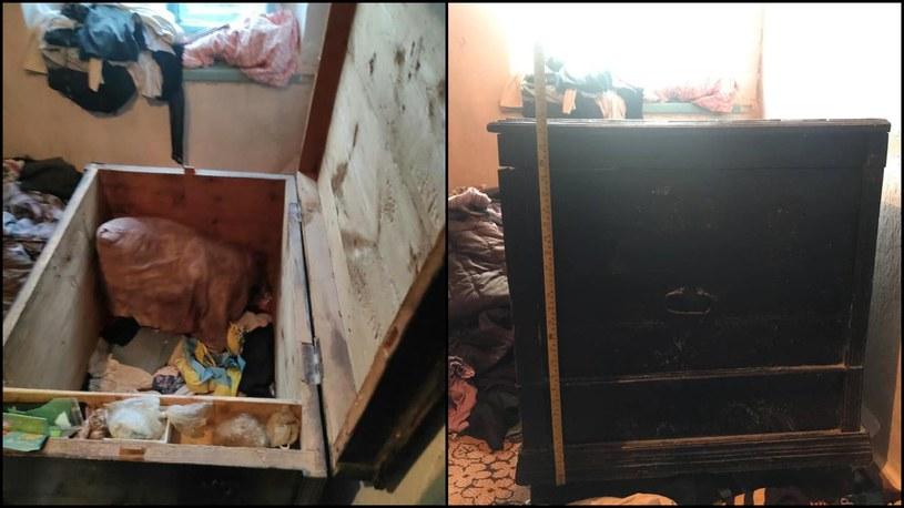 Skrzynia, w której zostały uwięzione dzieci /Артем Кисько /facebook.com