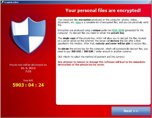 Skutek infekcji Filecoderem - okno z żądaniem okupu i zdefiniowanym czasem oczekiwania na wpłatę /materiały prasowe