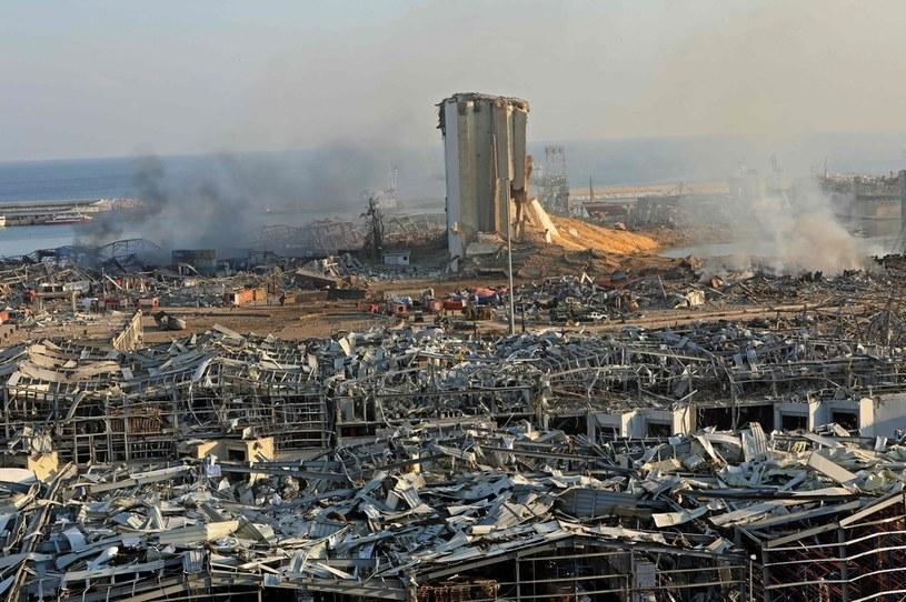 Skutki eksplozji w Bejrucie /AFP