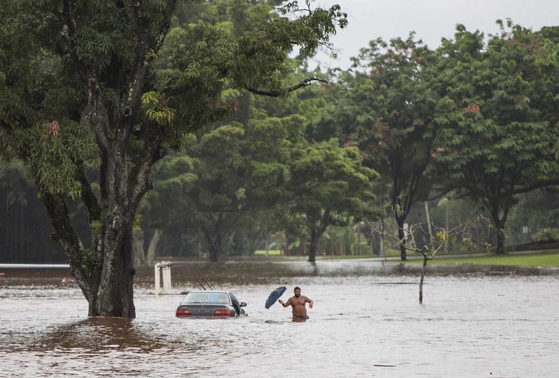 Skutki huraganu /Bruce Omori /PAP/EPA