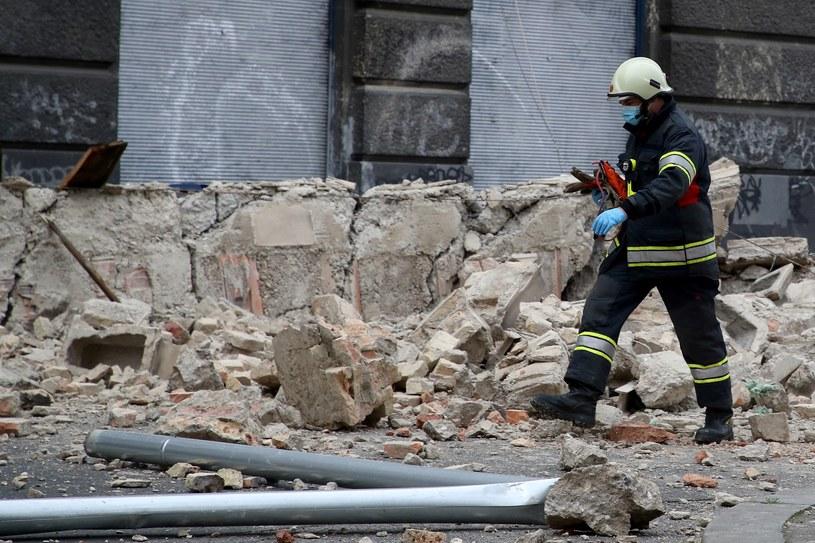 Skutki marcowego trzęsienia ziemi w Chorwacji /AFP