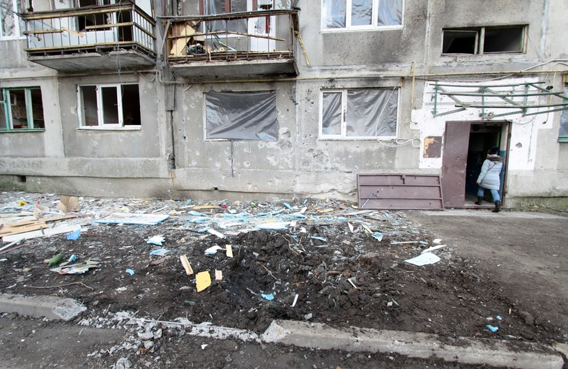 Skutki ostrzału miasta Jasynuwata w Donbasie, zdj. ilustracyjne /Sergey Averin/Sputnik /East News