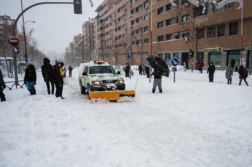 Skutki śnieżycy w Hiszpanii /Marcos del Mazo/LightRocket /Getty Images