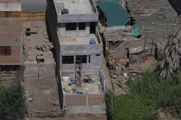 Skutki trzęsienia ziemi w Peru /Peruvian Presidency HANDOUT /PAP/EPA
