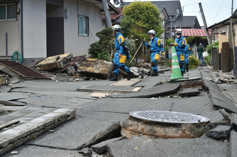 Skutki trzęsienia ziemi, zdj. ilustracyjne /KAZUHIRO NOGI /East News