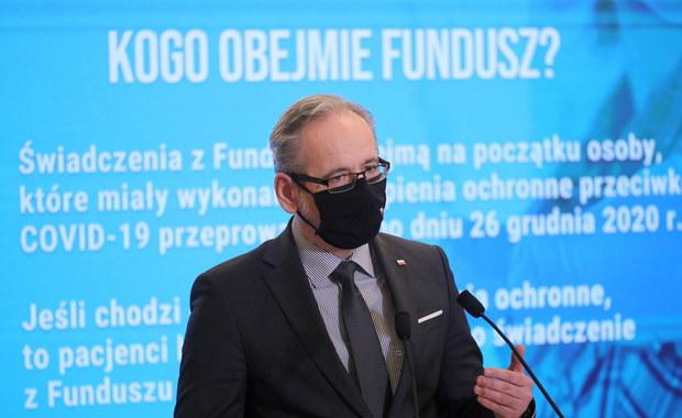 Skutki uboczne szczepień przeciwko Covid-19. Rząd zapowiada odszkodowania aż do 100 tys. złotych