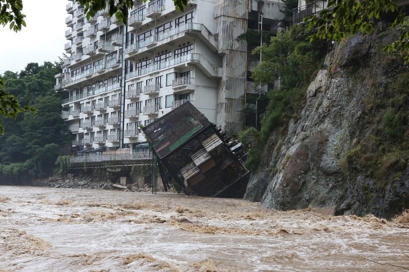 Skutki ulewy w Tokio /AFP