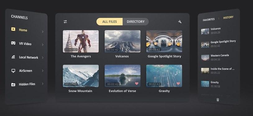 Skybox VR Video Player /materiały prasowe