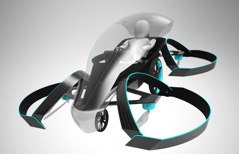 Skydrive to trójkołowy pojazd z 4 śmigłami /INTERIA.PL/informacje prasowe