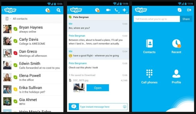 Skype na Androida /materiały prasowe
