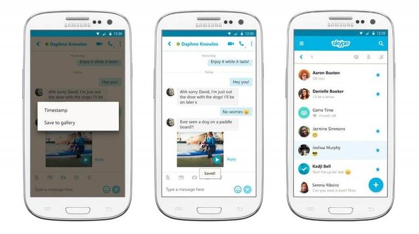 Skype - nowa wersja stworzona z myślą o Androidzie /materiały prasowe