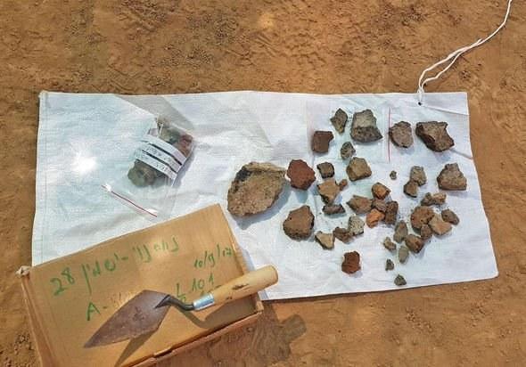 Ślady obróbki miedzi w Izraelu 6500 lat temu. Fot. Anat Rasiuk/Israel Antiquities Authority /materiały prasowe