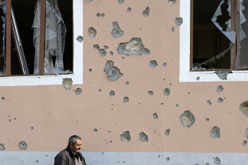 Ślady po ostrzale, Górski Karabach, zdjęcie z 1 listopada 2020 /TOFIK BABAYEV / AFP /AFP
