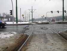 Slalom gigant, czyli przejazd przez tory tramwajowe w Katowicach
