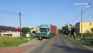Śląsk: Śmiertelne zderzenie motocykla z ciężarówką