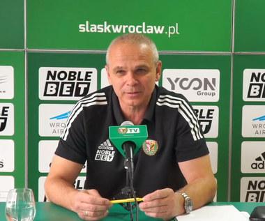 Śląsk Wrocław. Trener Vitezslav Laviczka przed meczem z Rakowem Częstochowa. wideo