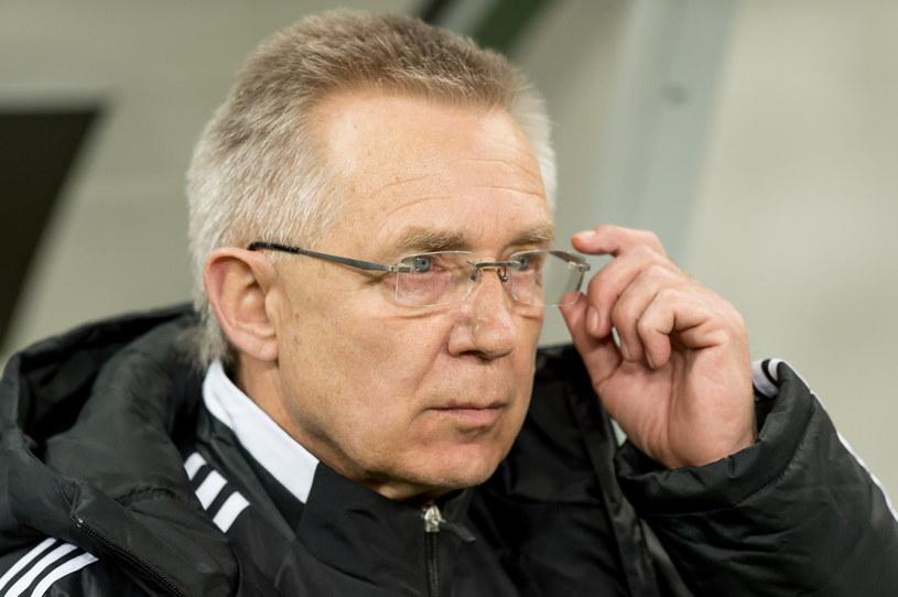 Śląsk zagrał pod wodzą nowego trenera - Romualda Szukiełowicza /Maciej Kulczyński /PAP