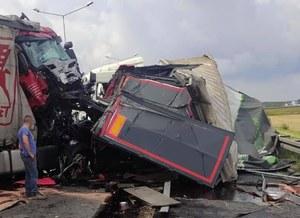 Śląskie: Wypadek na A4. W Gliwicach zderzyły się trzy tiry