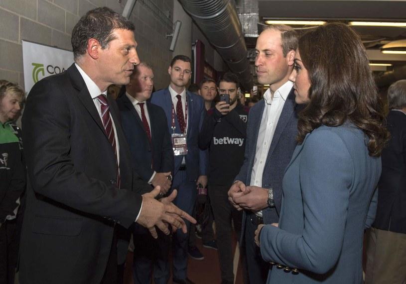 Slaven Bilić i książę Wilhelm oraz księżna Katarzyna. /AFP