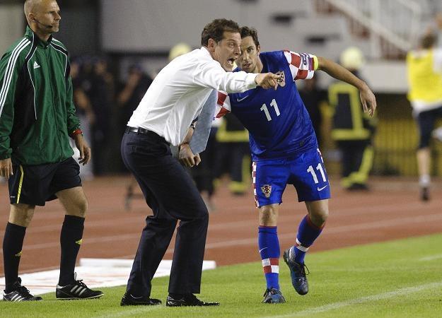 Slaven Bilić obok kapitana reprezentacji Chorwacji Dario Srny /AFP