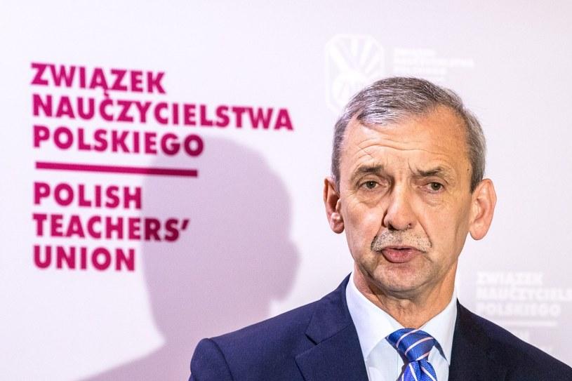 Sławomir Broniarz /Grzegorz Banaszak /Reporter
