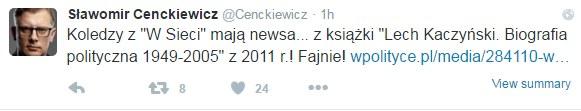 Sławomir Cenckiewicz na Twitterze /Twitter