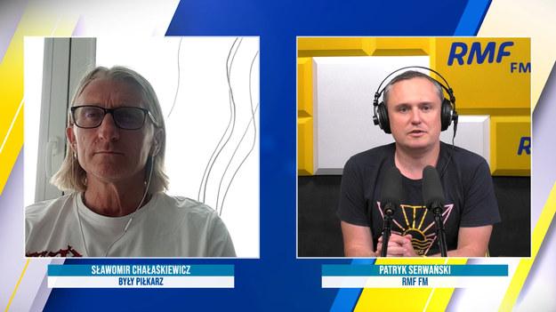 Sławomir Chałaśkiewicz w rozmowie z dziennikarzem RMF FM Patrykiem Serwańskim /Piotr Szydłowski /RMF FM