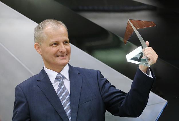 Sławomir Halbryt, prezes firmy Sescom, podczas debiutu na NewConnect /PAP