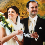 Sławomir i Kajra na ślubnym zdjęciu