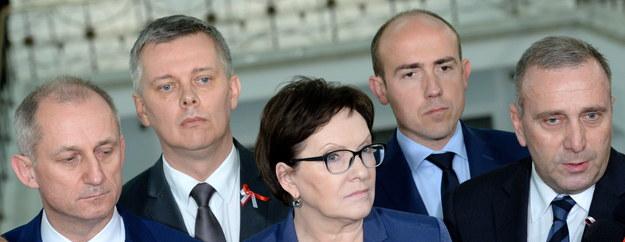 Sławomir Neumann, Tomasz Siemoniak, Ewa Kopacz, Borys Budka i Grzegorz Schetyna /PAP/Jacek Turczyk /PAP